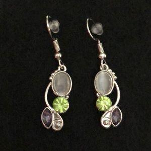 Jewelry - NWOT MOONSTONE & AMETHYST EARRINGS